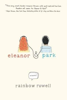 Eleanor and Park, by Rainbow Rowell. Guys....I can't even...this book makes me smile like a fool and makes my heart want to burst from happiness!!!! :)