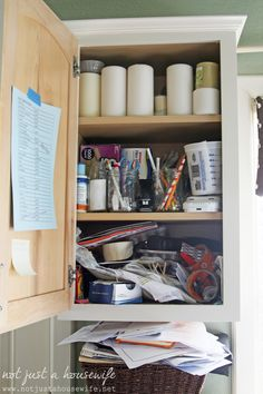 Get your junk #cabinet in order with these easy tips & tricks