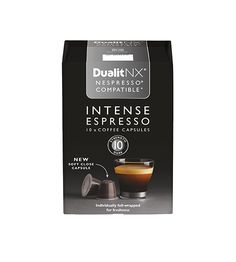Dualit NX Coffee Capsule – Intense Espresso The finest Central and South… Nespresso, Exotic, Strength, Cherry, Notes, African, Chocolate, Coffee, Dark