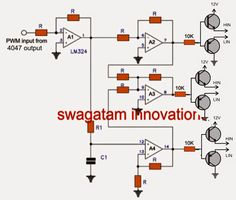 The post discuses the how to make a 3 phase inverter circuit which can be used in conjunction with any ordinary single phase square wave inverter circuit. The circuit was […] Hobby Electronics, Electronics Projects, Electronic Circuit Projects, Volt Ampere, Electric, Circuit Diagram, Arduino, How To Find Out, Homemade