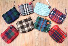 https://flic.kr/p/piYUy | Wooly Tartan Coin Purses | A collection of wooly tartan purses, I love tartan fabric I must get this from my grandma who's fav shop was Edinburgh Woolen Mill :D