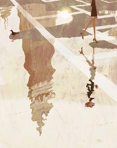 Japanese illustrator Tadahiro Uesugi - brilliant!