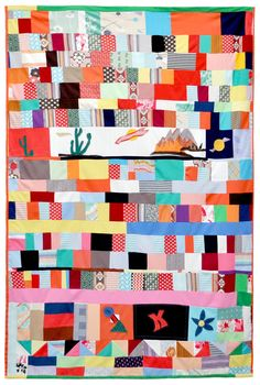 southwestern U., all double-knit polyester. Old Quilts, Scrappy Quilts, Quilting, American Quilt, Modern Materials, Double Knitting, Patches, African, Blanket