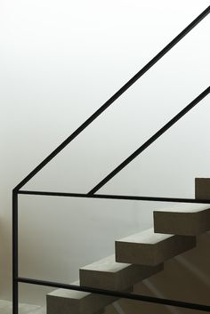 Modern Stairs // wood and steel stair detail at the Frame House by Apollo Architects & Associates