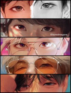 """""""The best part of my drawings are the eyes, I add a lot of details and I'm proud of it 👀💕"""" Fanart Bts, Taehyung Fanart, Bts Taehyung, Namjoon, Foto Bts, Bts Art, Bts Eyes, Les Aliens, Digital Art Tutorial"""