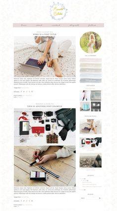 Custom Blog Design | Reinvented Collection Branding and Blog Redesign - Instant Entity http://instantentity.com/project/reinvented-collection/
