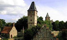 Frankenstein Castle.  Darmstadt, Germany.  It was the setting for Mary Shelley's gothic horror novel, Frankenstein.