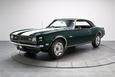 Green 1968 Chevrolet Camaro Z/28 For Sale | MCG Marketplace #classic #muscle #cars