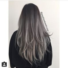 Grey balayage image 3980588 by tschissl on favim hair Grey Balayage, Balayage Hair, Cheveux Tye And Dye, Dye My Hair, Ombre Hair Color, Hair Colour, Hair Images, Hair Looks, Hair Inspiration