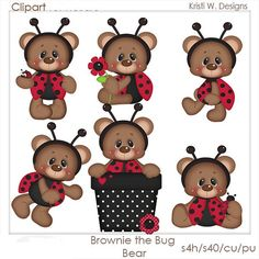 SCRAPBOOKING DIGITAL CLIPART Brownie el oso Bug