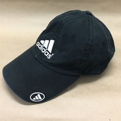 e520cf34f4c ADIDAS - black sports cap with logo Adidas sports cap with adjustable  strap. Black with
