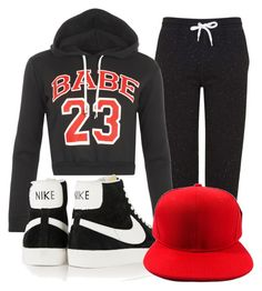 """""""Untitled #144"""" by stargirl717 ❤ liked on Polyvore featuring Topshop, WearAll and NIKE"""