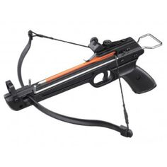 Pistol crossbow 50lb/80lb, I own two of these, one with plastic barrel and one with metal barrel. It is available under many kind of brand names. 150fps, 165 km/h.