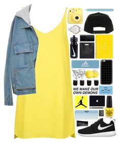 """""""I want you to know"""" by ladyturquoise8 ❤ liked on Polyvore featuring Topshop, adidas, Eos, Olivia Burton, NIKE, Casetify, CASSETTE, NARS Cosmetics, Forever 21 and 3.1 Phillip Lim"""