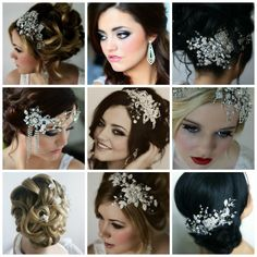 Adding some sparkle to your up do for your big day
