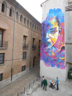 STREET ART UTOPIA » We declare the world as our canvasBy C215 in Tudela, Navarra, Spain »