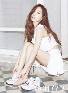 Girls' Generation Taeyeon in High Cut Vol. 145 Look 3 Girl's Generation, Girls' Generation Taeyeon, Asian Woman, Asian Girl, Taeyeon Fashion, Seohyun, Sexy Shorts, High Cut, Asian Fashion