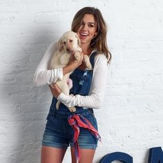 """Wild Blue Denim on Instagram: """"Pure joy ❤️ what could be better than overalls, puppies, and Sadie?! @legitsadierob #wildbluedenim"""""""