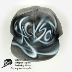 Custom Graffiti airbrushed Baseball Cap Snapback hat wit YOUR NAME or  initials best personalized birthday gift for boy and girl e59ded7ff027
