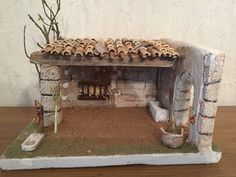 Nativity Stable, Diy Nativity, Christmas Nativity Scene, Home Crafts, Diy Crafts, Christmas Pictures, Bird Houses, Cribs, Christmas Decorations