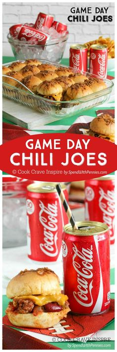 Chili Joes (plus my Chili Joes (plus my favorite tailgating. Chili Joes (plus my Chili Joes (plus my favorite tailgating tips)! We love chili and we love sloppy joes! This easy recipe combines the two in one amazing bite for the perfect game day snack! Tailgating Recipes, Tailgate Food, Game Day Snacks, Game Day Food, Super Bowl Essen, Beef Recipes, Cooking Recipes, Coca Cola, Baguette