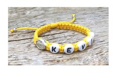 Initial Bracelet, Name Bracelet, Id Bracelets, Healing Bracelets, Etsy Jewelry, Jewelry Accessories, St Dymphna, Boys First Communion, Etsy Handmade