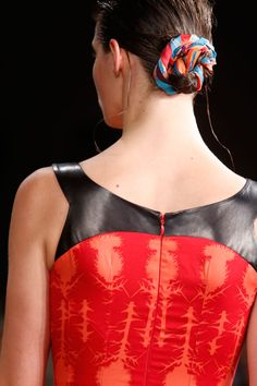 Sophie Theallet Spring 2014 RTW - Scarf Buns