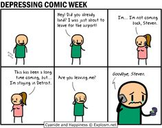 DEPRESSING COMIC WEEK IS HERE!!  Cyanide and Happiness