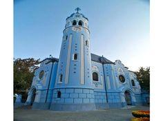 Blue Church, Bratislava - reminds me of Smurfs