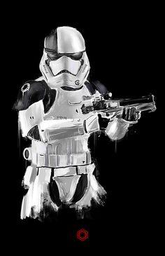 First Order Stormtrooper | Star Wars | #starwars #starwarsart #starwarsfanart #stormtrooper