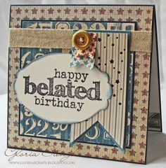 Sweet 'n Sassy Stamps and Gloria Stengel Designs -Birthday Word Art, paper by Graphic 45