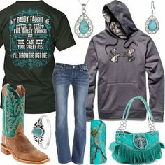 My Daddy Taught Me Under Armour Big Logo Hoodie Outfit - Real Country Ladies Country Western Outfits, Country Style Outfits, Country Wear, Country Life, Trendy Outfits, Cool Outfits, Hunting Clothes, Hoodie Outfit, Best Wear