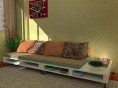 extra pallets under for more storage/get off floor