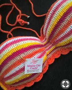 Crochet Bra, Crochet Bikini Pattern, Crochet Bikini Top, Crochet Girls, Crochet Cross, Crochet Woman, Love Crochet, Crochet Clothes, Crochet Stitches