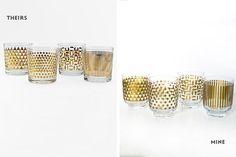 fun printed glassware