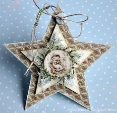 Pretty paper Christmas ornament