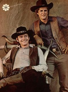 """Alias Smith and Jones"" stars Pete Duel as ""Hannibal Hayes"" (alias ""Joshua Smith"") and Ben Murphy as ""Jed 'Kid' Curry"" (alias ""Thaddeus Jones"") Alias Smith And Jones, Tv Westerns, Online Photo Gallery, Old Shows, Western Movies, Vintage Tv, Classic Tv, Best Tv, Favorite Tv Shows"
