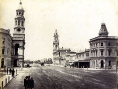 King William Street, Adelaide, South Australia, Photographer: Sweet, Captain Samuel White (attrib.)   Year: c1880