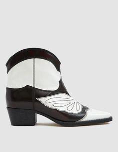 9e8350b58118 Ganni Meg Short Cowboy Boots Teen Girl Shoes