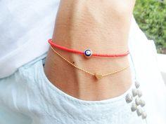 Evil eye bracelets <3