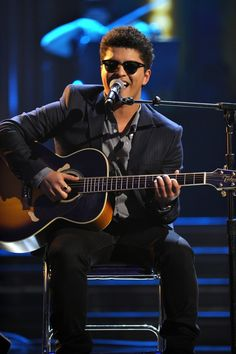 "Bruno Mars performs ""Just The Way You Are"" during ""The GRAMMY Nominations Concert Live!!"" on Dec. 2, 2009"