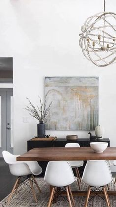 Modern Dining Room Design Ideas - We've obtained inspo for days to help obtain you began, whether you're searching for modern ideas in dining-room decoration, furnishings, wall surface art, as well as much more. Table Design, Dining Room Design, Dining Room Furniture, Dining Room Table, Dining Rooms, Design Room, Room Chairs, Minimalist Dining Room, Modern Minimalist