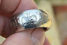 The coin for this ring was supplied by the client and had sentimental value…