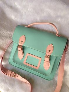 "New!! Sweet Pastel Collection♥♥ Cambridge Satchel Bag Size 11"" Line id:palmloveshop Instagram:palmloveshop #cambridgebag #cambridgesatchel #palmloveshop"