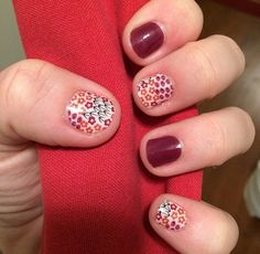 Jamberry Nails Harvest Blooms and Boysenberry. www.DawnSK.JamberryNails.net