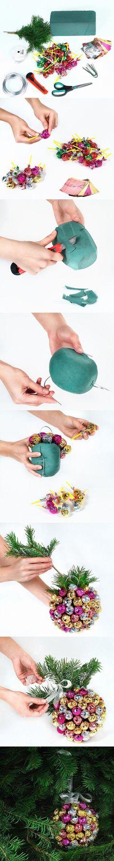 Handmade Christmas Chupa Chups Ball Decoration