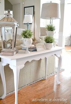 a simple vignette, home decor, A simple Spring vignette on the lookout for a narrow basket or trunk for underneath the table and then it will be complete