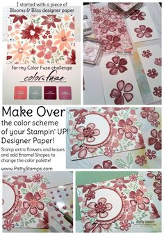 MAKEOVER: Blooms & Bliss altered color combo designer paper from Stampin'…