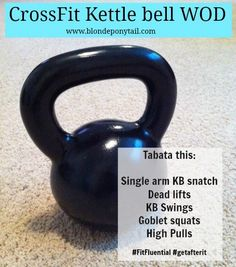 Kettlebell workout from Blonde Ponytail