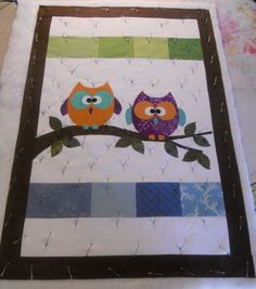 Katie's Quilts and Crafts: Jaime's baby Owl Quilt.